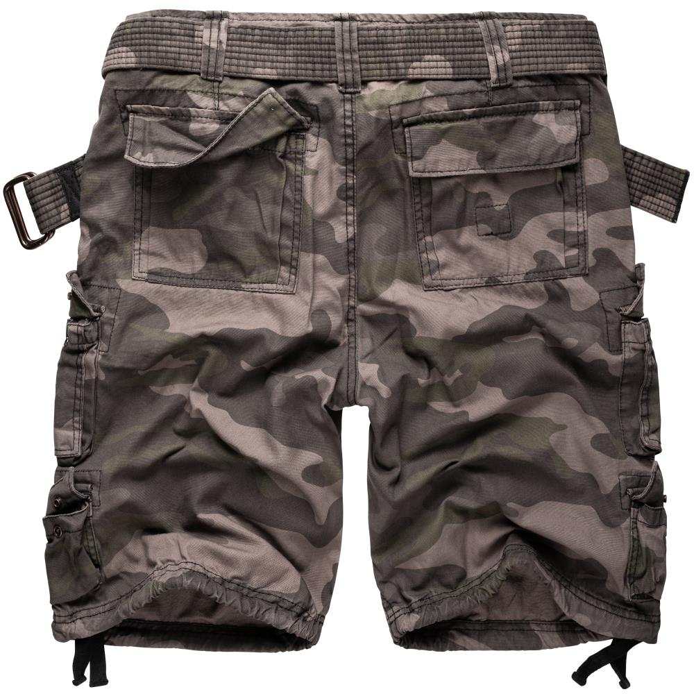 Kraťasy Surplus® Division Shorts black camo