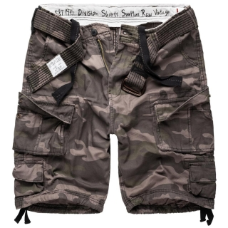 Kraťasy Surplus Division Shorts black camo