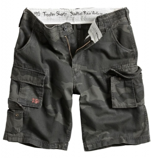 Kraťasy Surplus TROOPER SHORTS black camo