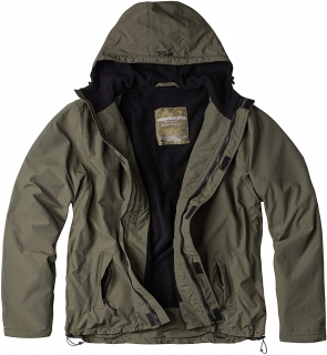 Bunda zateplená větrovka SURPLUS ZIPPER WINDBREAKER oliv